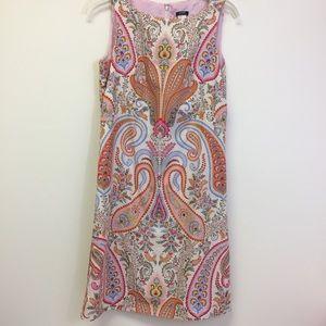 J. Crew Pastel Paisley Sleeveless Sheath Dress